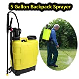 ncient 5 Gallon Backpack Sprayer 20L Portable Knapsack Hand Piston Pressure Pump Sprayers for Lawn Garden Farm Yard (5 Gallon)