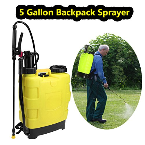 5 Gallon Backpack Sprayer 20L Portable Knapsack Hand Piston Pressure Pump Sprayers for Lawn Garden Farm Yard (5 (Backpack Piston Pump Sprayer)
