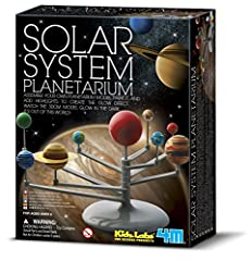 Art and science combine with the 4M Solar System Planetarium. The Solar System Planetarium set teaches children about the wonders of the solar system. Just assemble, paint and learn. This set includes planets, stencils, squeeze glow paint pen...