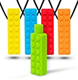 Optimum Sensory Chew Necklace (4 Pack + Free Pencil Topper) - Chewy Necklace Bundle - Silicon Chewelry for Kids with Autism ADHD Biting Needs - Chewlery Toy for Boys and Girls - More Firm