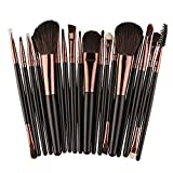 18 pcs Makeup Brush Set Make-up Toiletry Kit Wool Foundation Concealer Blush Kit (Color - 18PCS Black)