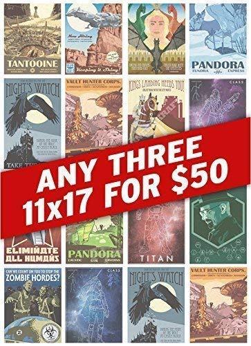 (Any Three 11x17s for 50 dollars)