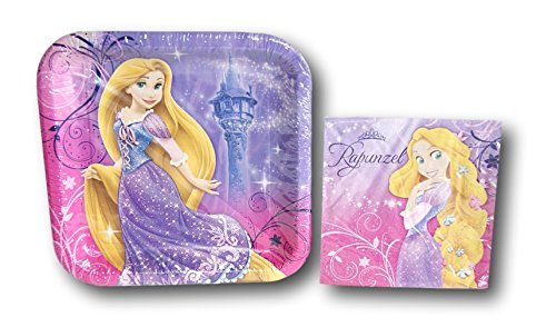 Tangled Rapunzel Party Supply Kit - Napkins and -