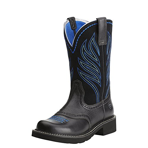 Ariat Women's Probaby Flame Western Cowboy Boot, Black Deert