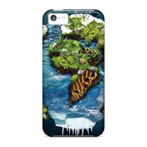 New Premium ConnieJCole Earth Art Skin Case Cover Excellent Fitted For Iphone 5c