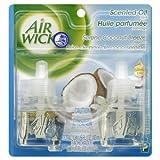 Airwick Scented Oil Twin Refill Serene Coconut Breeze  40 ml