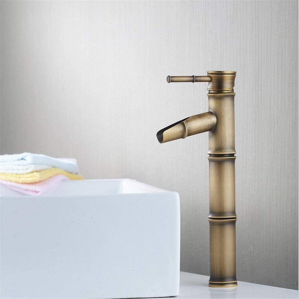 General Oudan Basin Mixer Tap Bathroom Sink Faucet Accessories antique-brass single cold basin faucet, general (color   Low)