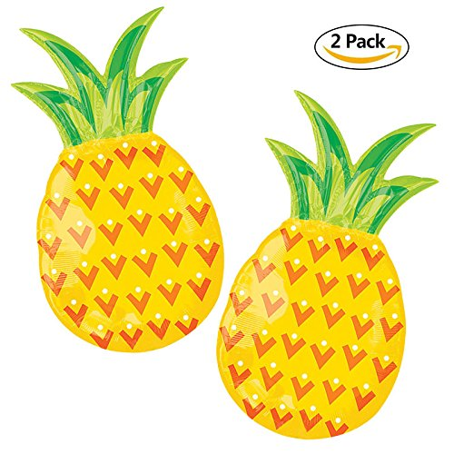 2Pack Pineapple Balloons For Birthday Party Decorations Baby Shower Fruit Luau balloons For Summer Party tropical Party Supplies Pineapple Table Decorations