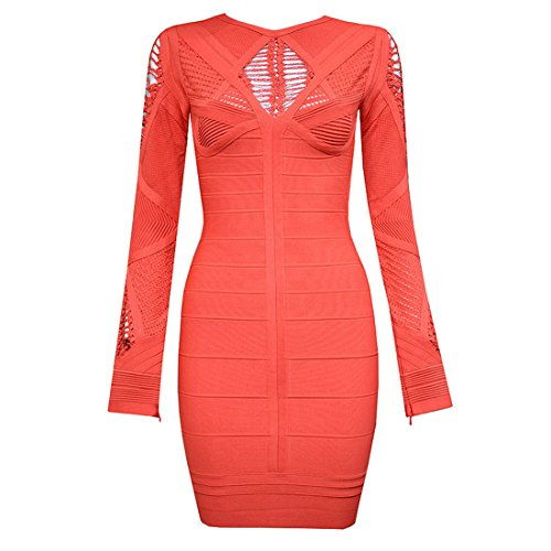 blau HLBCBG Orange Kleid blau Damen XS OxqfawHx
