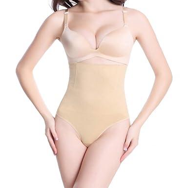 377efaf88a DEBRICKS Women Thong Body Shaper Underwear High Waist Butt Lifter Tummy  Control Panties Hip Abdomen Shapewear
