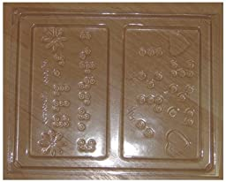 The Braille Store Set Of 3 Print-Braille Chocolate Molds