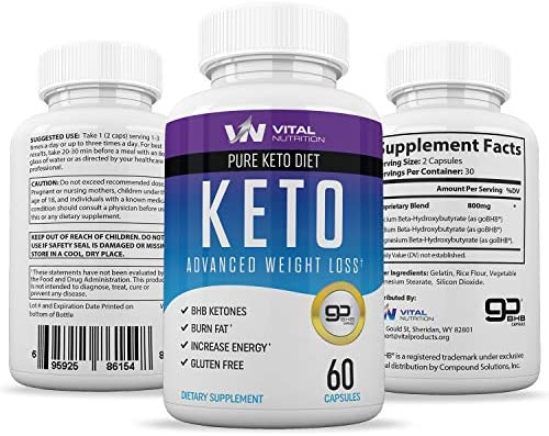 Pure Keto Diet Pills - Ketosis Supplement to Burn Fat Fast - Ketogenic Carb Blocker - Best Keto Diet Pills for Women and Men - Helps Boost Energy & Metabolism - 60 Capsules 6