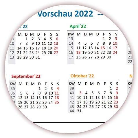 Rainbow Wandkalender/Wandplaner 2021 (gerollt) DIN A0 Format (841 x 1189 mm) mit 14 Monaten, kompletter Jahresvorschau 2022 und Ferientermine/Feiertage aller Bundesländer