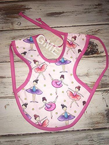 Laminate Bib - Ballerina Bapron Bib (Waterproof, Adjustable, Ties in back)