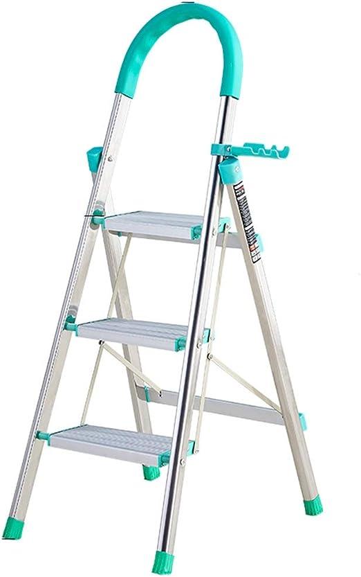 LJSJT Escaleras Plegables Escalera de 3 peldaños con reposabrazos ...