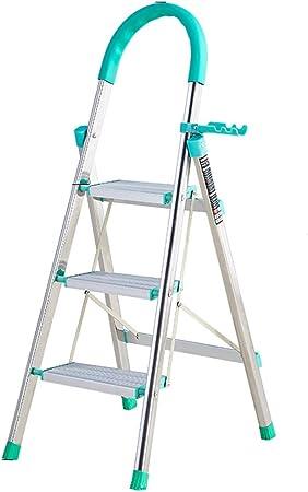 LJSJT Escaleras Plegables Escalera de 3 peldaños con reposabrazos de Goma Ampliando el Pedal Escalera doméstica de Acero Diseño Plegable para un fácil Almacenamiento. Teniendo Peso 150 kg: Amazon.es: Hogar