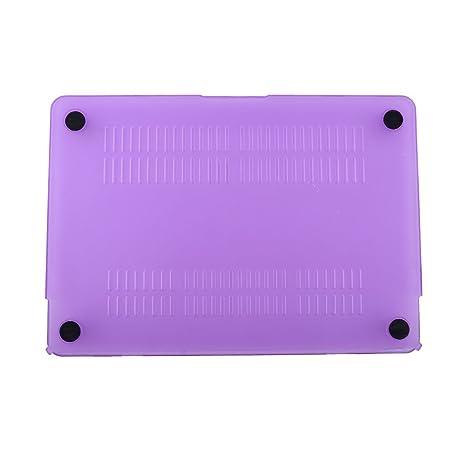 Amazon.com: eDealMax plástico Inicio dura del ordenador portátil cubierta protectora DE 28,5 cm de Largo purpúreo claro Para MacBook Retina DE 12 pulgadas: ...