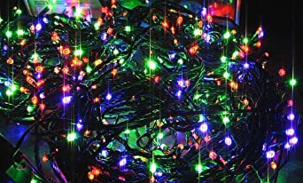 Retro Phone Co®-20 Multi Coloured Xmas Fairy Lights /Christmas Tree Lights/Multi  Coloured Office Fairy Lights