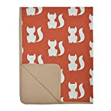 Little Haven Clever Fox Blanket, Orange, Small