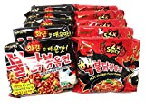 Fusion Select Samyang Top Two Spicy Chicken Hot Ramen noodle Buldak Variety 10 pack (5 each