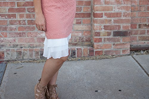 Chiffon dress extender plus