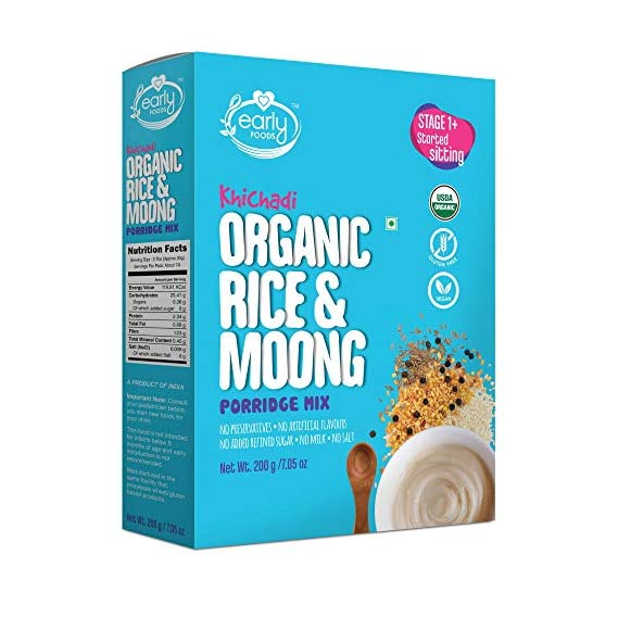 Early Foods - Organic Rice & Moong Khichdi Mix 200g