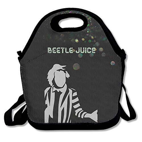 Bakeiy Beetlejuice Person Lunch Tote Bag Lunch Box Neoprene Tote For Kids And Adults For Travel And Picnic (Beetlejuice Halloween Spooktacular)