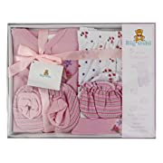 Big Oshi 5 Piece Layette Gift Set, Pink