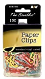 HQ Advance Products Paper Clips, Vinyl Coated, Assorted Colors (12103)
