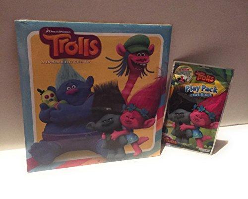 Trolls DreamWorks 16 Month 2017 Calendar and Play Pack Grab & Go DG