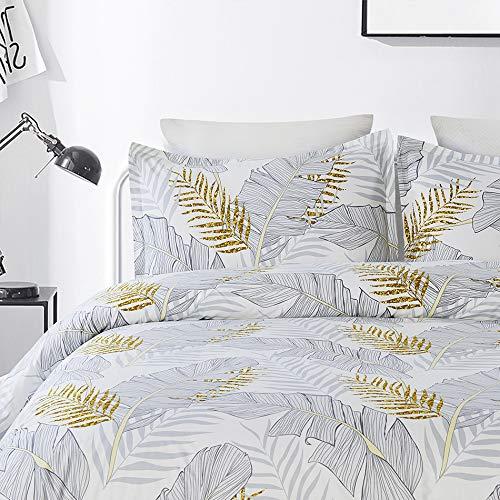 Vaulia 100% Cotton Duvet Cover Set - Twill Weave Fabric Structure, with Hidden Zipper Closure - King ()