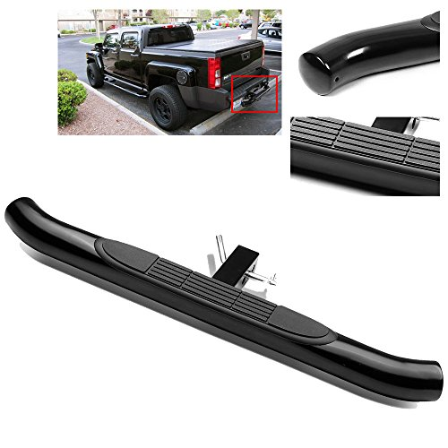 ModifyStreet 37″/3″ Black Stainless Steel Tube Hitch Step Bar for 2″ Receivers