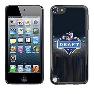 N F L Hockey - Metal de aluminio y de plástico duro Caja del teléfono - Negro - Apple iPod Touch 5