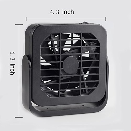 4.3 Inch USB Portable Desk Table Personal Cooling Fan with Portable Magnet Design Comfortable in Office,Camping,Dorm by Shuley (Image #2)