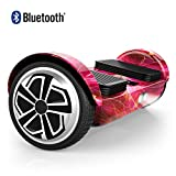 [UPGRADED] OXA Hoverboard - UL2272 Certified Self Balancing Scooter with Bluetooth Speaker and Headlights, 20 lithium batteries (144 Wh) ensure 17 km range on a single charge, 2 modes for all ages