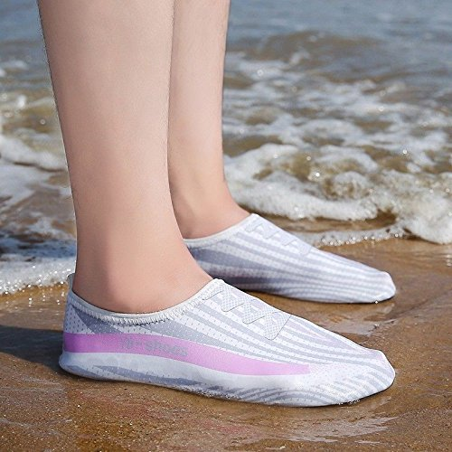 Lucdespo acuático calzado esquí Ultra la SK Anti polvo zapatos Skid de piel 2 natación cuidado blanco zapatos de light transpirables playa rvrwxzE1
