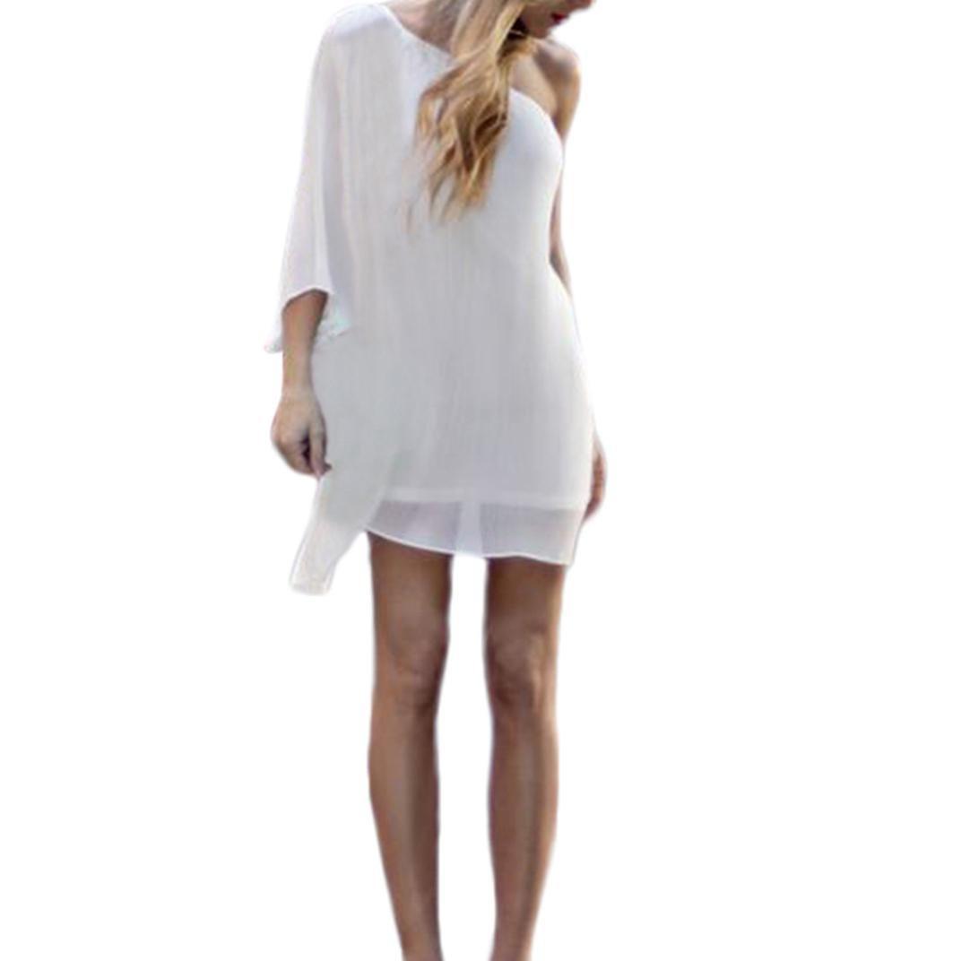 Women Girls Fashion Dress GoodLock Lady Female Half Sleeve Off Shoulder Above Knee Loose Party Dress