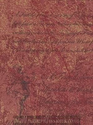 5813265 SAMPLE 8x10 INCHES Tuscan Red Script Village Paper Illusions QVC Wallpaper Torn Faux Finish Wallpaper Illusion PaperIllusion SAMPLE (Paper Torn Wallpaper)