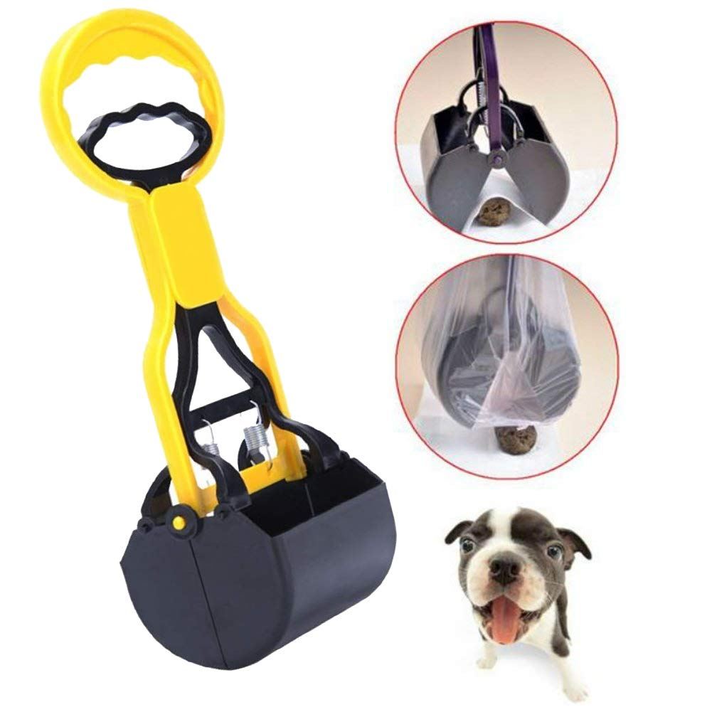 BLACK DOG Dog Potty Scooper Non-Breakable Pet Pooper Scooper for Dogs and Cats High Strength Material and Durable Spring for Easy Grass and Gravel Pick Up Puppies & Small Breed Dogs (Color May Vary) (B07ZVV8TY2) Amazon Price History, Amazon Price Tracker