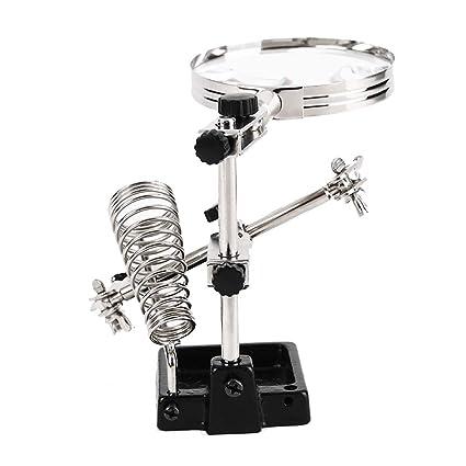 Gona Helping Hand Magnifier Stand - Lente De Aumento De Soldador, Ideal para Soldar,