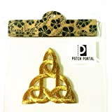 Patch Portal Celtic Knot Embroidered Applique Trinity Stencil Triquetra Iron ...