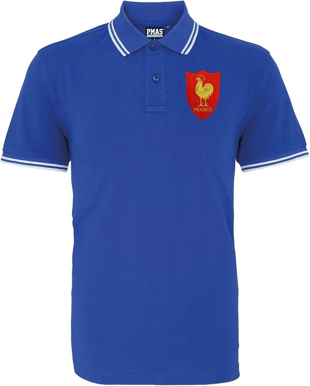 Hombre Francés Retro cockrel Rugby – Polo para hombre, Multicolore ...