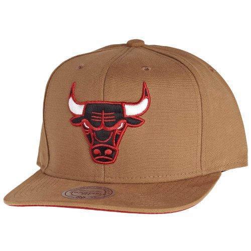 NBA Ness amp; EU147 Snapback Bulls Kappe Basecaps Chicago Mens Tan Cap Mitchell EOZ5AqxE