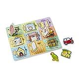 Melissa & Doug Magnetic Hide & Seek Board (Developmental Activity Toy, 9 Pieces)