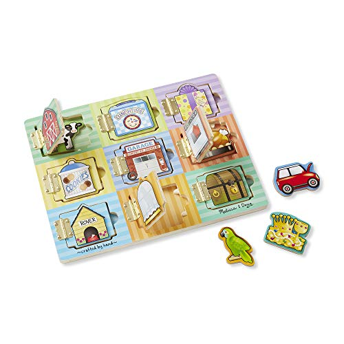 Melissa & Doug Hide and Seek Wooden Activity Board with Wooden Magnets (Melissa & Doug Magnetic Hide And Seek Board)