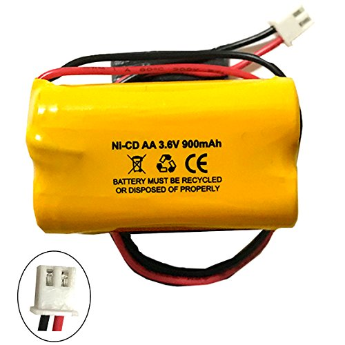 Unitech 6200RP 3.6v 900mAh Battery Replacement Exit Sign Emergency Light NiCad Lowes OSA230 Lowes 253799 Unitech AA900MAH 6200-RP Unitech (3.6v Emergency Lighting Battery)