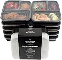 3 Compartment Reusable Food Storage Containers