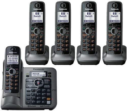 Panasonic KX-TG155SK DECT 6.0 link-to-cell a través de Bluetooth teléfono inalámbrico con sistema de respuesta, gris metálico, 5 Terminales: Amazon.es: Electrónica