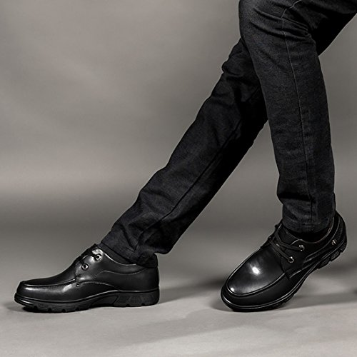 Minishion Mens Sprint Fall Lace-up Casual Business Work Oxford Shoes Black hGkVrJL
