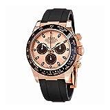 Rolex Cosmograph Daytona Pink and Black Dial Mens Chronograph Oysterflex Watch 116515PBKSR
